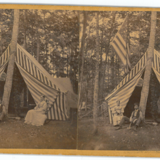 Tent camping at Terrace Park, near Morristown, NY