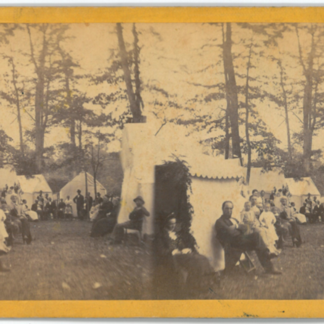 Rensselaer Falls Party at Methodist camp meeting.