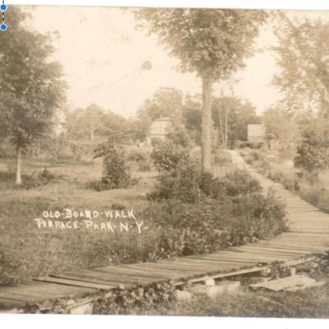 Old Bpard Walk at Terrace Park near Morristown, NY