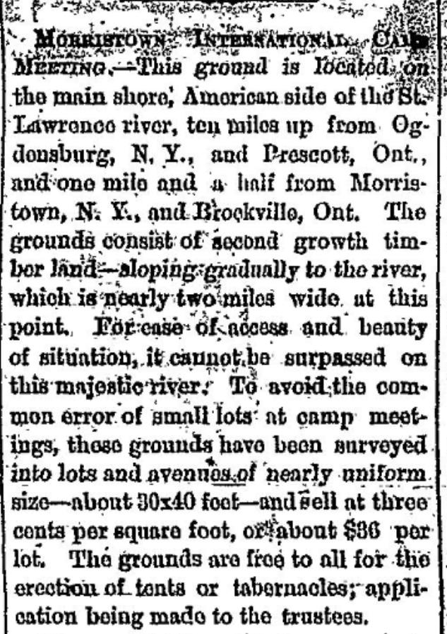 Methodist Camp Meeting 1875