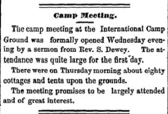 Methodist Camp Meeting near Morristown, NY