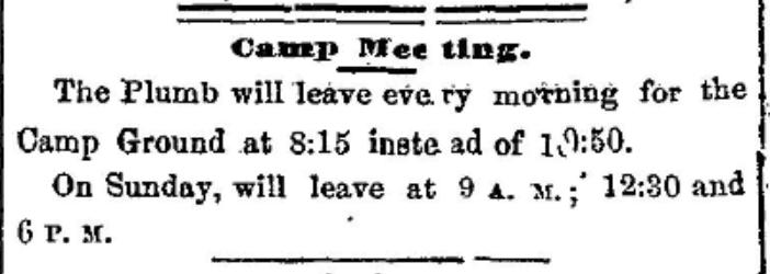 Camp Meeting near Morristown, NY