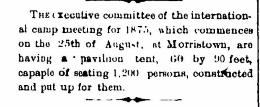 Methodist Camp Meeting in 1875