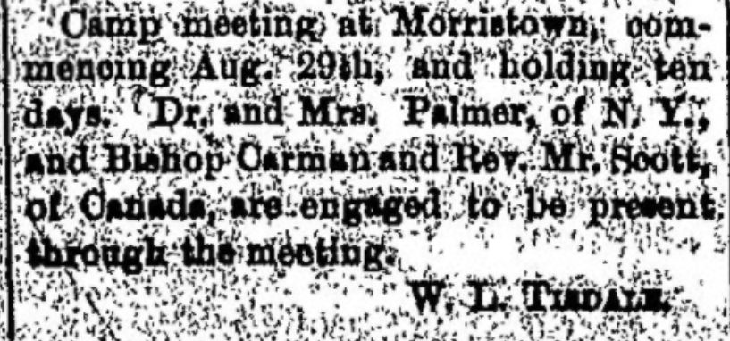 Methodist camp meeting 1876