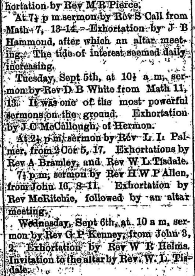 methodist encampment in 1876