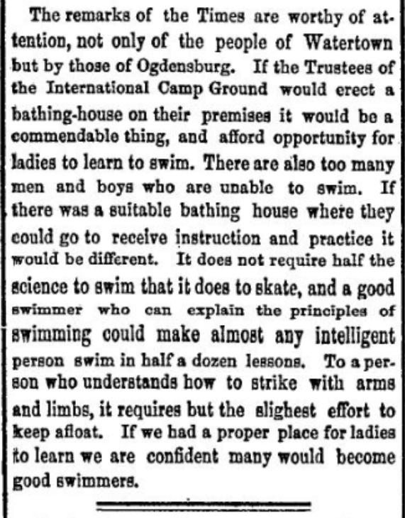 women and swimming 1876