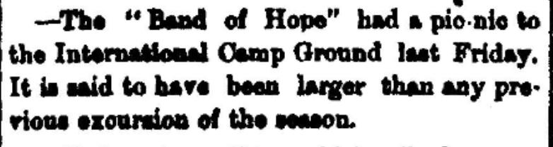 Methodist camp meeting concert
