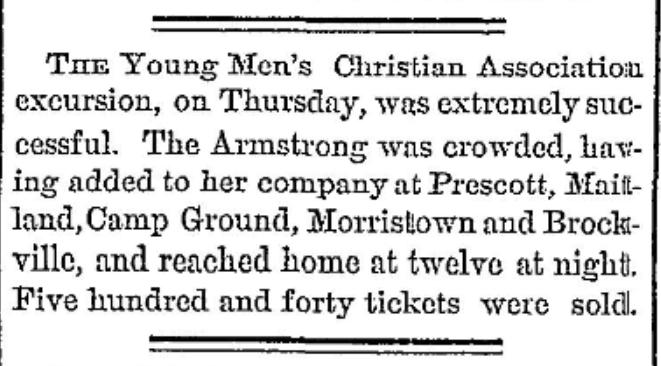 Methodist camp meeting near Morristown, NY 1877