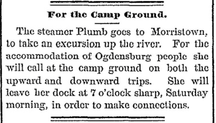 St. Lawrence river Methodist camp ground