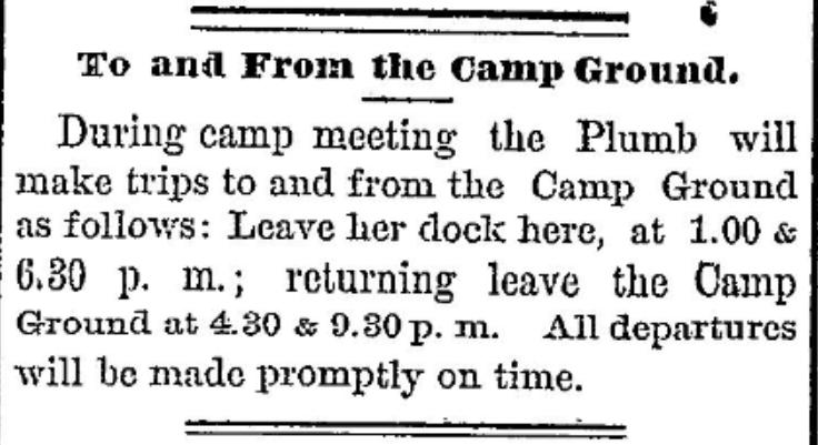 International camp ground 1877 morristown, NY