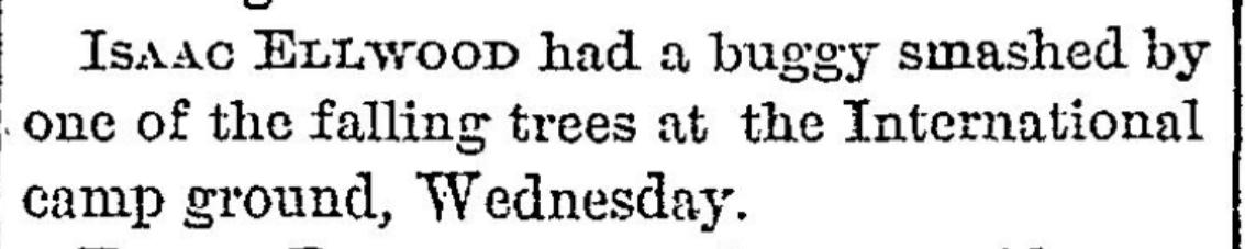 Methodist ca,p meeting 1877 morristown, NY