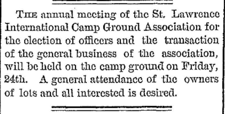 Methodist camp meeting NY 1877