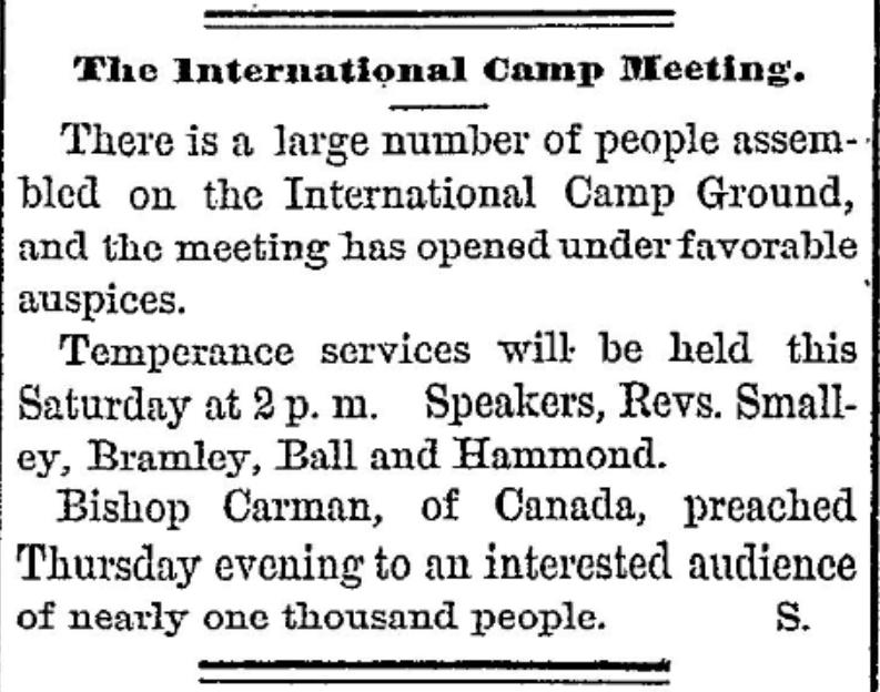International camp ground camp meeting 1877