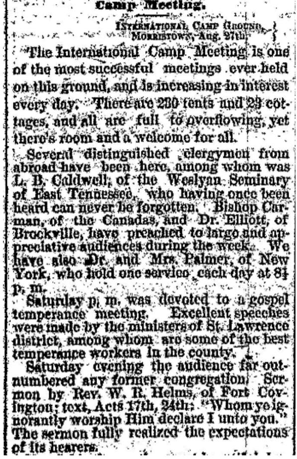 Methodist camp meeting 1877